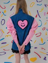 LAZY OAF Heart Street Style Plain Cotton Medium Party Style
