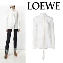 LOEWE Casual Style Silk Blended Fabrics Long Sleeves Plain Medium