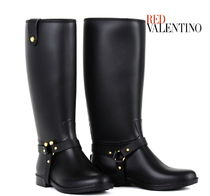 RED VALENTINO PVC Clothing Flat Boots