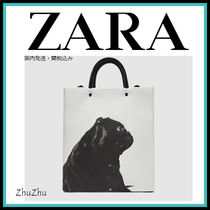 ZARA Casual Style Faux Fur Street Style A4 Other Animal Patterns