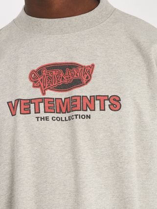 VETEMENTS Long Sleeve Crew Neck Pullovers Street Style Long Sleeves Cotton 6