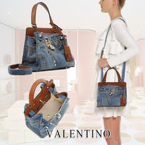 VALENTINO Casual Style Studded 2WAY Shoulder Bags