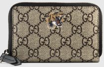 GUCCI Monoglam Unisex Cambus Other Animal Patterns Coin Cases
