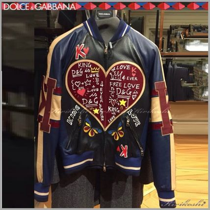 d2162f961dca21 Dolce   Gabbana 2018 SS Short Heart Leather MA-1 Bomber Jackets by ...
