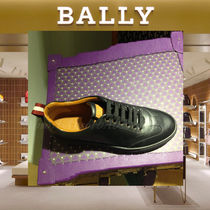 BALLY Plain Leather Sneakers