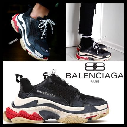 d944858c9bc8 BALENCIAGA Triple S 2018 SS Unisex Elegant Style Low-Top Sneakers by ...