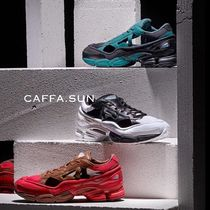 RAF SIMONS Ozweego Unisex Street Style Collaboration Bi-color Leather Sneakers