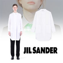 Jil Sander Casual Style Long Sleeves Plain Cotton Long Shirts & Blouses