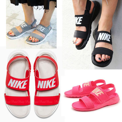 7752084e58a Nike TANJUN Casual Style Unisex Plain Shower Shoes Flat Sandals by ...