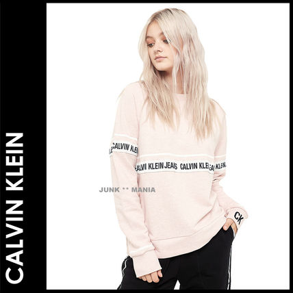 Crew Neck Short Casual Style Street Style Long Sleeves
