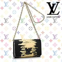 Louis Vuitton Blended Fabrics 2WAY Chain Leather Elegant Style Clutches