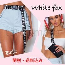 WHITE FOX Star Casual Style Street Style Belts