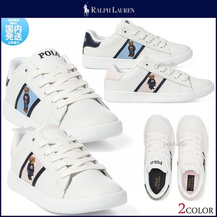Round Toe Casual Style Leather Low-Top Sneakers