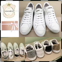 MiuMiu Casual Style Leather Low-Top Sneakers
