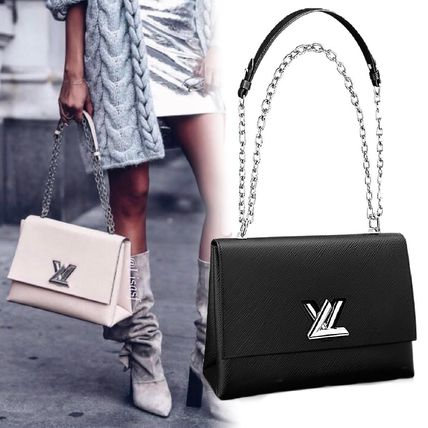 23a484f560cd ... Louis Vuitton Shoulder Bags Blended Fabrics 3WAY Chain Plain Leather  Elegant Style ...