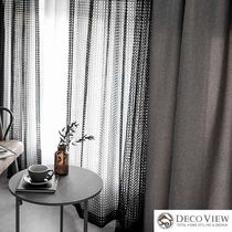 DECO VIEW Black & White Curtains