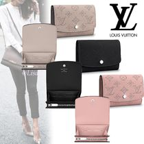 Louis Vuitton MAHINA Monoglam Blended Fabrics Leather Coin Purses
