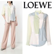 LOEWE Casual Style Silk Long Sleeves Medium Shirts & Blouses