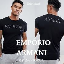EMPORIO ARMANI Street Style Plain Short Sleeves T-Shirts