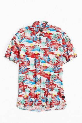 Button-down Flower Patterns Tropical Patterns Street Style