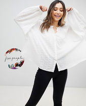 Free People Casual Style Puffed Sleeves Shirts & Blouses