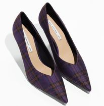& Other Stories Other Check Patterns Casual Style Pin Heels