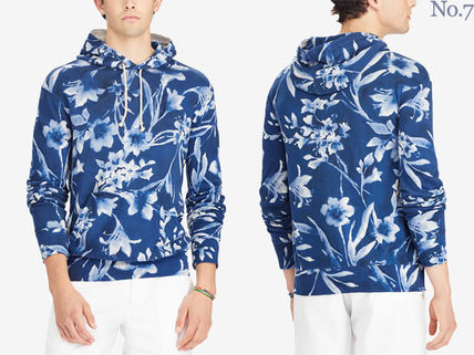 Ralph Lauren Hoodies Pullovers Flower Patterns Street Style Long Sleeves Cotton 2