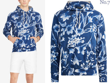 Ralph Lauren Hoodies Pullovers Flower Patterns Street Style Long Sleeves Cotton 3