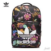 adidas Flower Patterns Casual Style Street Style Backpacks