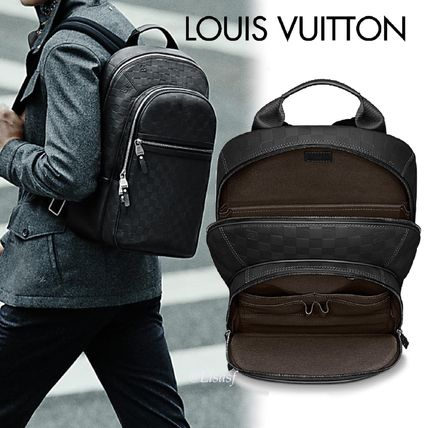 506cd756024f ... Louis Vuitton Backpacks Other Check Patterns Blended Fabrics Street  Style A4 Leather ...