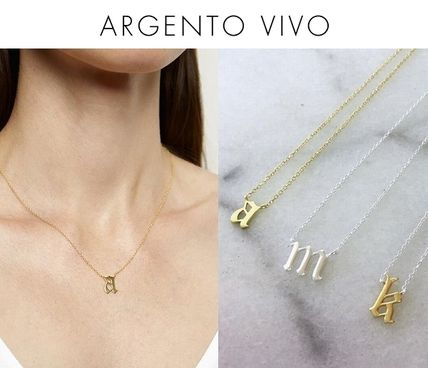 Casual Style Initial Silver Necklaces & Pendants