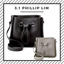 3.1 Phillip Lim Plain Leather Elegant Style Shoulder Bags