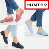 HUNTER Round Toe Rubber Sole Casual Style Plain Rain Boots Boots