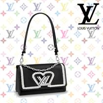 Louis Vuitton 2WAY Leather Elegant Style Totes