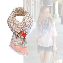 Louis Vuitton Zigzag Casual Style Cotton Lightweight Scarves & Shawls