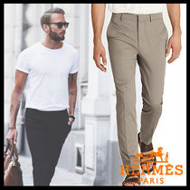 HERMES Street Style Plain Cotton Pants