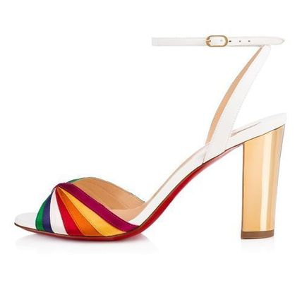 904cbbdd039 Christian Louboutin Heeled Open Toe Leather Block Heels Elegant Style  Heeled Sandals 6 ...