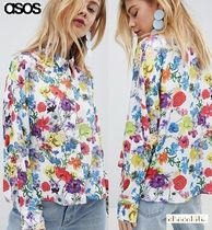 ASOS Flower Patterns Casual Style Long Sleeves Medium