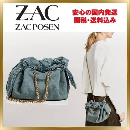 Casual Style Unisex 2WAY Chain Plain Shoulder Bags