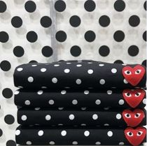 COMME des GARCONS Heart Dots Unisex Street Style Long Sleeves Cotton