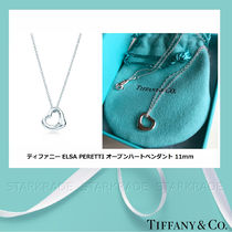 Tiffany & Co OPEN HEART Costume Jewelry Casual Style Silver Necklaces & Pendants