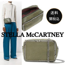Stella McCartney FALABELLA Casual Style Chain Plain Khaki Shoulder Bags