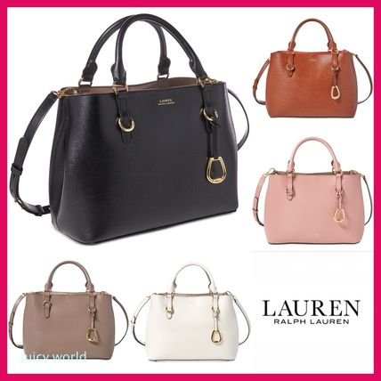 Ralph Lauren Handbags Casual Style 2way Plain Leather