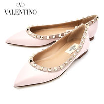 VALENTINO Casual Style Plain Leather Slip-On Shoes