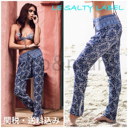 Flower Patterns Casual Style Long Skinny Pants