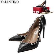 VALENTINO Plain Leather Pin Heels Party Style