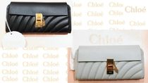 Chloe Drew Plain Leather Long Wallets