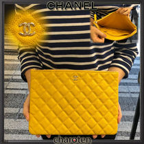 CHANEL TIMELESS CLASSICS Unisex Calfskin Bag in Bag 2WAY Plain Elegant Style Clutches