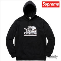 Supreme Street Style Collaboration Plain Hoodies