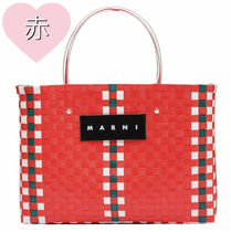 MARNI MARNI MARKET Gingham Other Plaid Patterns Casual Style Nylon A4 Handmade